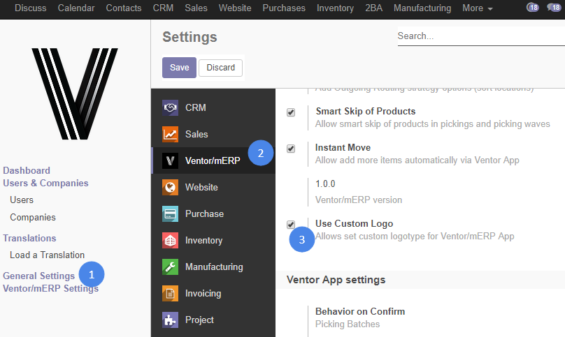 odoo inventory interface